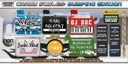 Cartel de la fiesta Crazy Styles Bumping Edition