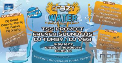 Cartel de la fiesta Crazy Water 09 @ Non