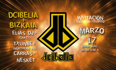 Flyer Dcibelia 20080517 Elias Chumbe Carras y Nesket Invitacion