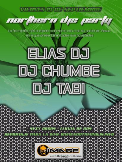 Flyer o cartel de la fiesta Northern Djs Party @ IMG