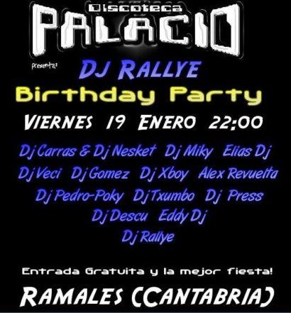Flyer Palacio 20070119 Cumpleaños Dj Rallye