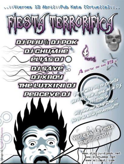 Flyer o cartel de la fiesta Fiesta Terrorifica @ Bar Kata