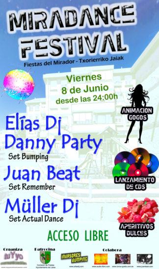 Flyer o cartel de la fiesta Miradance Festival @ Lamiako