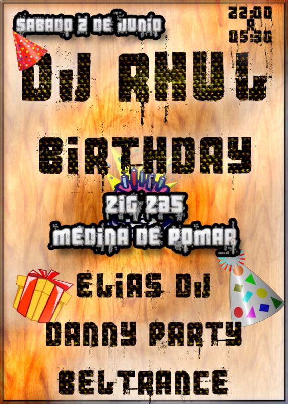 Cumpleaños Dj Rhul @ Zig Zas (Medina de Pomar)