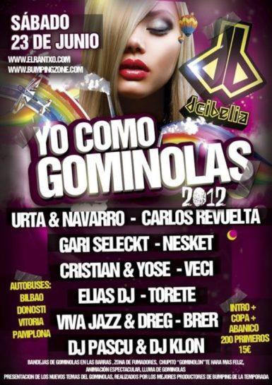 Flyer Yo Como Gominolas 2012 @ Dcibelia