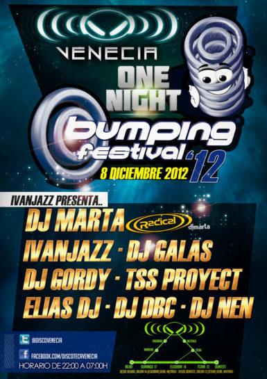 Flyer o cartel de la fiesta Bumping Festival 2012 @ Venecia