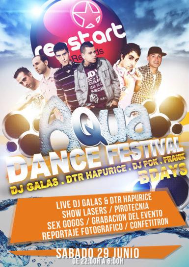 Flyer o cartel de la fiesta Aqua Dance Festival @ The Image