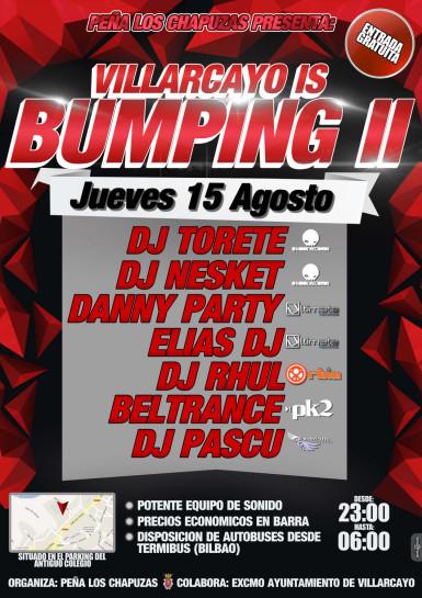 Flyer 2013.08.15 Villarcayo is Bumping @ Peña Los Chapuzas