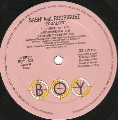 Imagen representativa de Sash! feat. Rodríguez – Ecuador