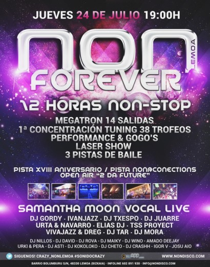 Cartel de la fiesta NON Forever 2014