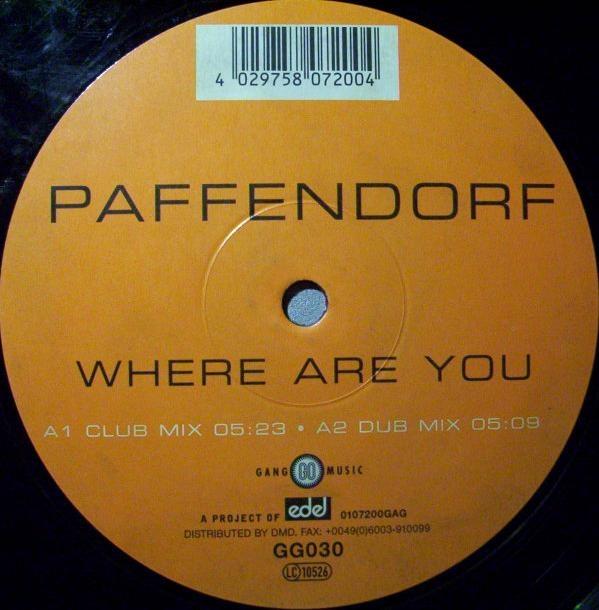 Imagen representativa del temazo Paffendorf – Where are you (Club mix)
