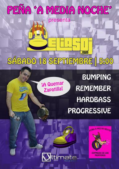 Flyer o cartel de la fiesta Elias Dj @ A Media Noche (Fiestas de Espinosa)