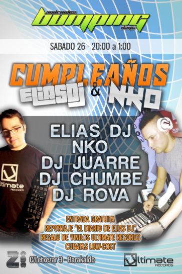 Cartel de la fiesta Cumpleaños Elias Dj