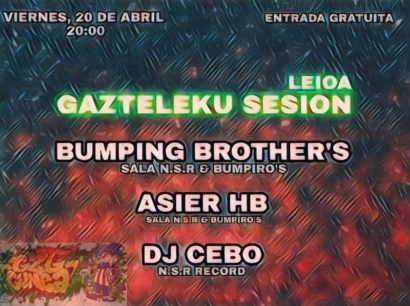Cartel de la fiesta Gazteleku Sesion @Leioa