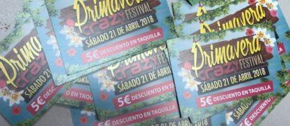 Flyer o cartel de la fiesta Primavera Festival 2018 @Crazy