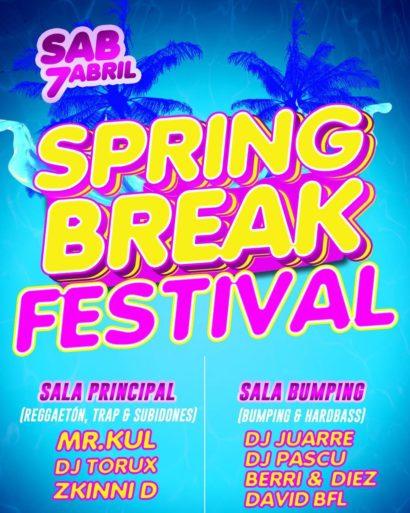 Cartel de la fiesta Spring Break Festival @Fever