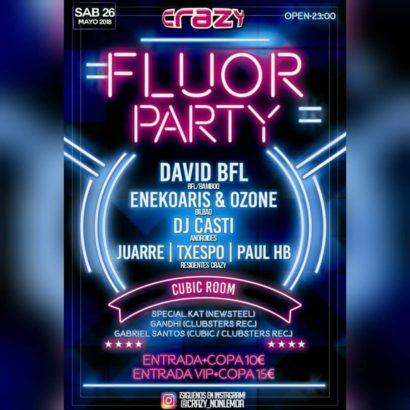 Cartel de la fiesta Fluor Party @ Crazy