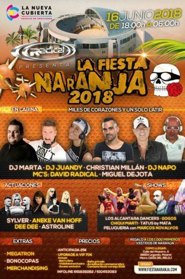 Cartel de la fiesta La Fiesta Naranja 2018 @La Cubierta