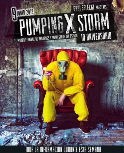 Flyer o cartel de la fiesta Pumping Storm X (10 Aniversario) @NON