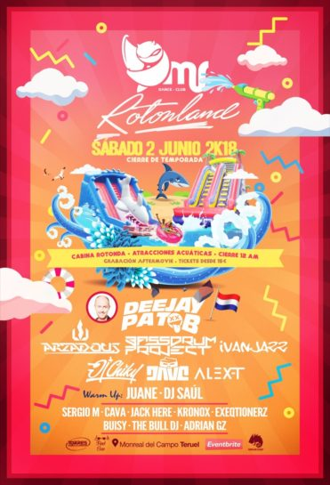 Cartel de la fiesta Rotonland @ Mr Dance Club