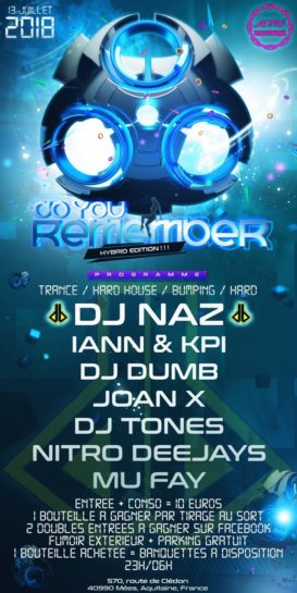 Cartel de la fiesta Do You Remember (Hybrid Edition ) @ Le 824 Discotheque