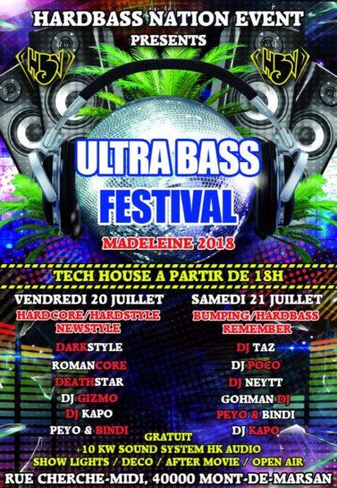 Cartel de la fiesta Ultrabass Festival @ Mont-de-Marsan (Sábado)