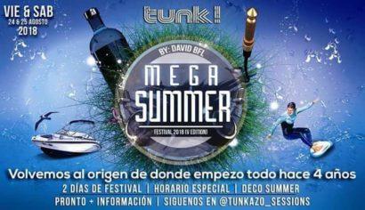 Cartel de la fiesta Mega Summer Festival 2018 @Tunk