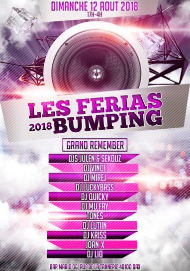 Flyer o cartel de la fiesta Les Ferias Bumping 2018 @Bar Mario 3G (Domingo)