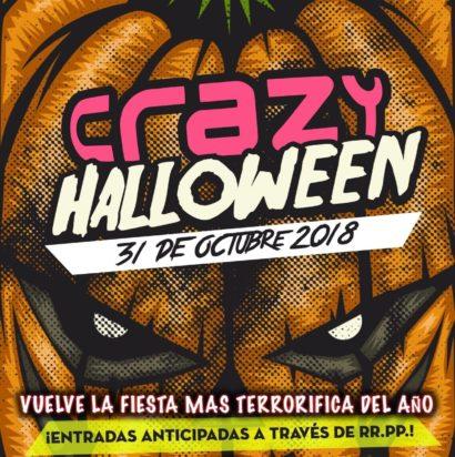 Cartel de la fiesta Crazy Halloween 2018