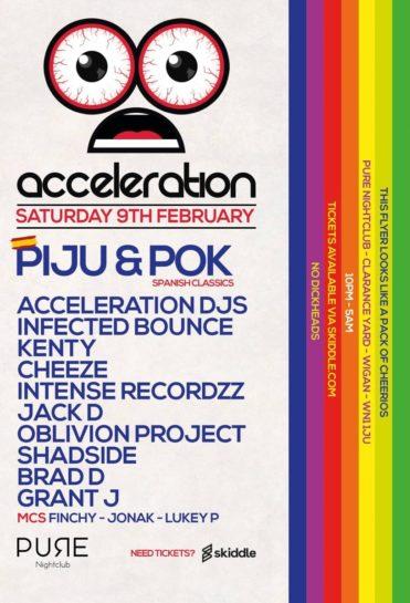 Cartel de la fiesta Acceleration