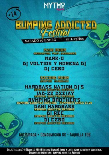 Cartel de la fiesta Bumping Addicted Festival @ Mytho