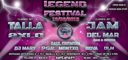 Cartel de la fiesta Legend Festival @ Santana 27