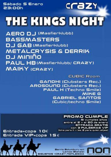 Cartel de la fiesta The Kings Night @ Crazy