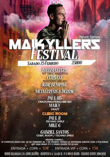 Cartel de la fiesta Maikyllers Festival @ NON