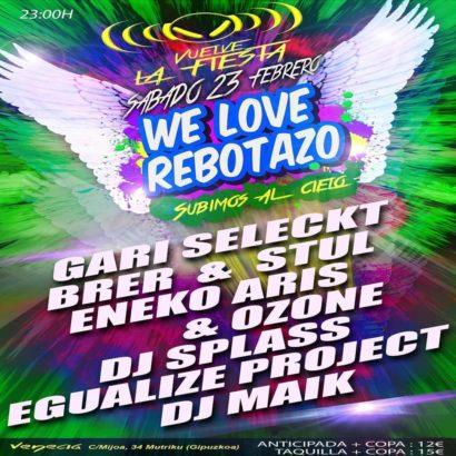 Cartel de la fiesta We Love Rebotazo 2019 @ Venecia