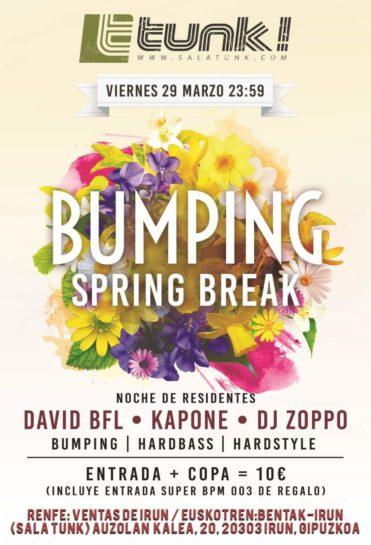 Cartel de la fiesta Bumping Spring Break @ Tunk
