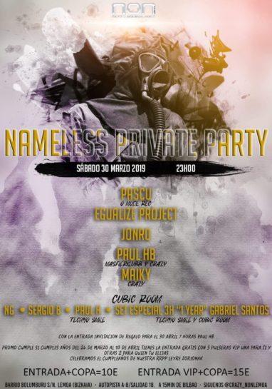 Cartel de la fiesta Nameless Private Party @ NON