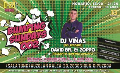 Flyer o cartel de la fiesta Bumping Sundays 002 @ Tunk