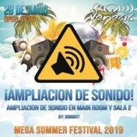 Mega Summer Festival 2019 @ Venecia Aplicación de sonido