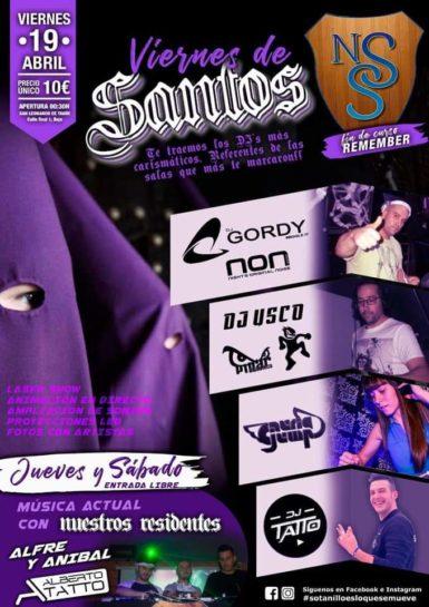 Flyer o cartel de la fiesta Viernes de Santos en Nueva Sala Sotanillo