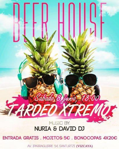 Flyer o cartel de la fiesta Tardeo Xtremo en Beer House