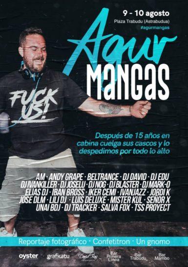 Cartel de la fiesta Agur Mangas en Astrabudua