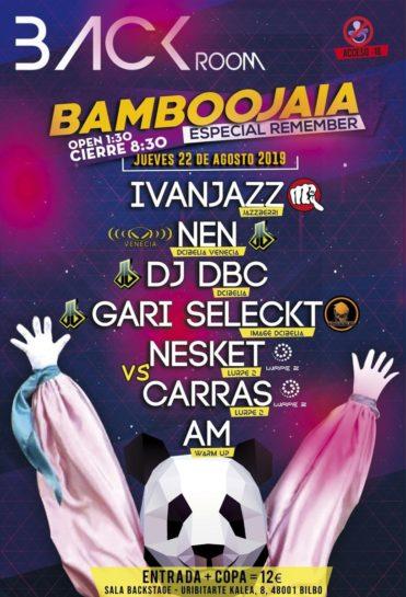 Cartel de la fiesta Bamboojaia 2019 en Back Room