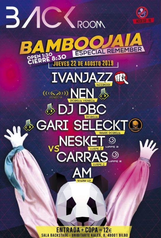 Bamboojaia 2019 en Back Room