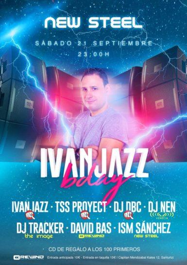 Flyer o cartel de la fiesta Ivanjazz bday @ Rewind