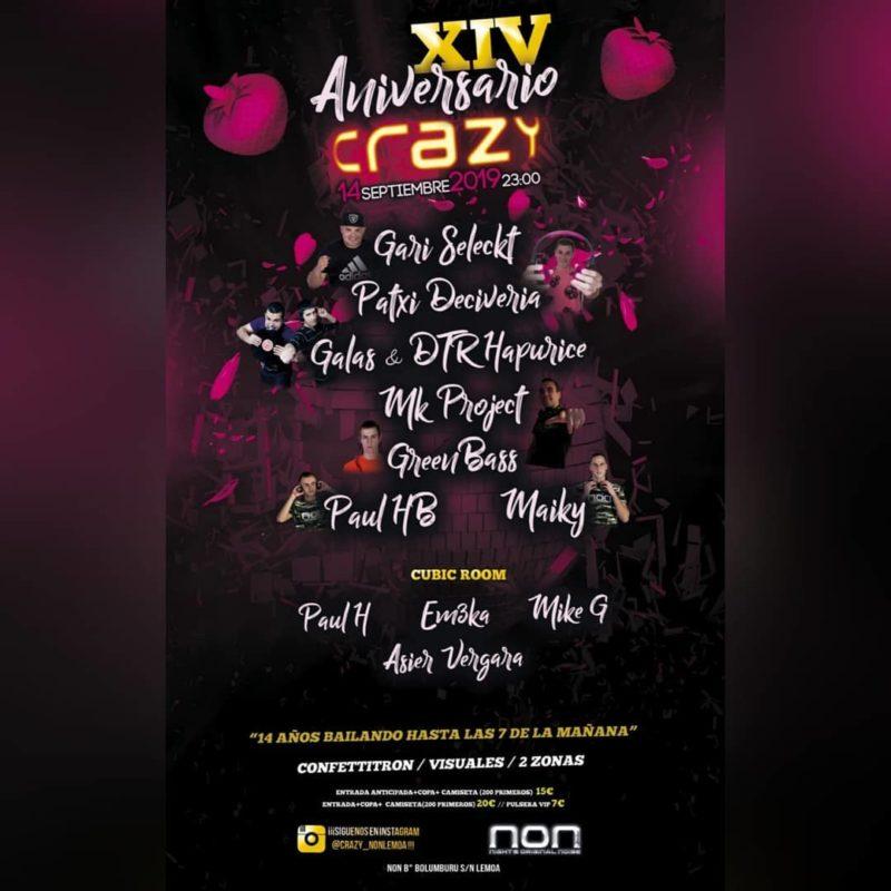 XIV Aniversario Crazy en NON
