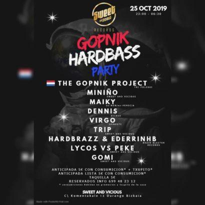 Cartel de la fiesta Gopnik Hardbass Project en Sweet