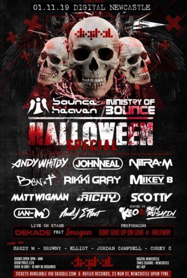Flyer o cartel de la fiesta Halloween Special en Digital Newcastle