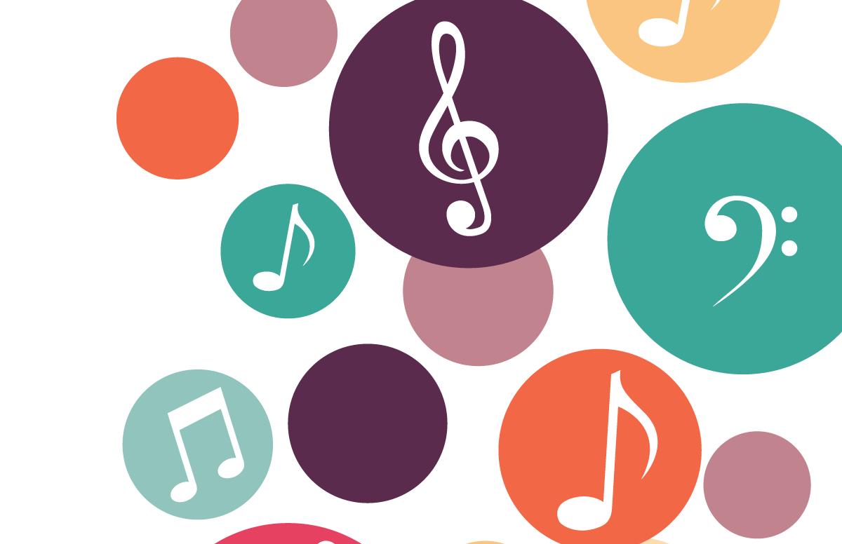 ilustración notas música