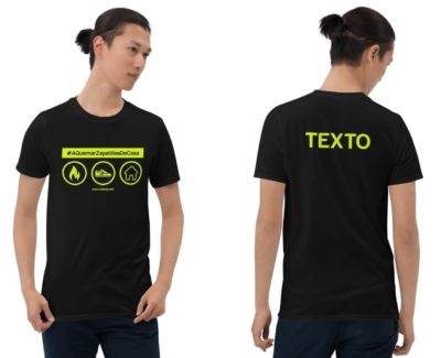 Camiseta con modelo por delante y por detrás